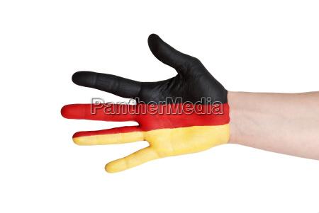 a german hand