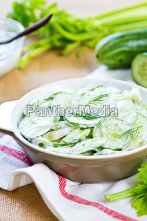 cucumber with celery and dill salad