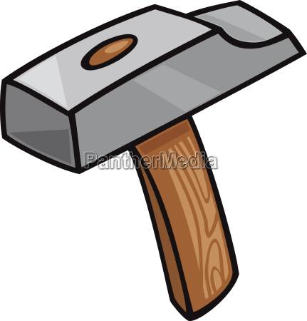 hammer clip art cartoon illustration