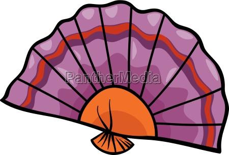 fan clip art cartoon illustration