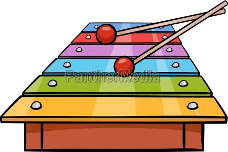 xylophone clip art cartoon illustration
