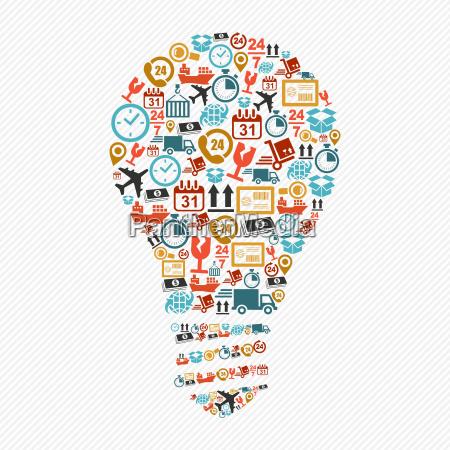 idea light bulb colorful shipping web