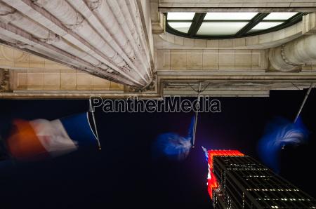 nacht nachtzeit usa fahne flagge flaggen