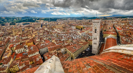 panoramic view of florence from duomo