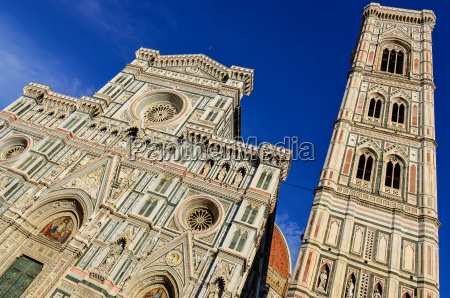 view of duomo cathedral and campanila