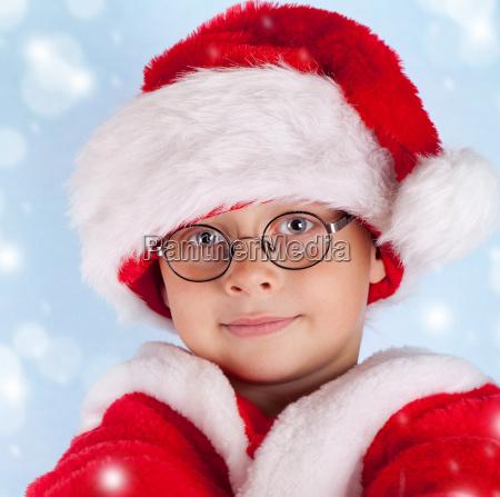 kleiner froehlicher weihnachtsmann