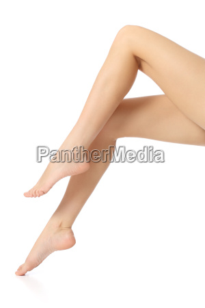 beautiful smooth waxing woman legs