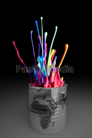 can paint explosion