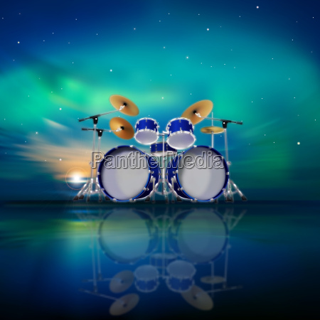 abstract music background with sunrise and