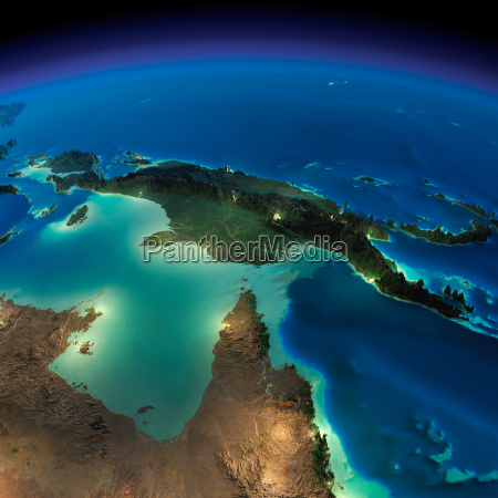 night earth australia and papua new