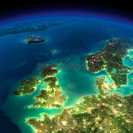 night earth united kingdom and the
