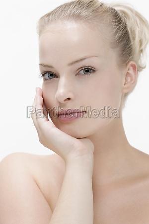 woman beautiful beauteously nice macro close