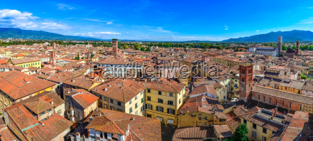 panoramic view beautiful italian town luca
