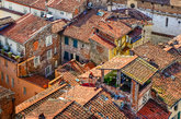 detail view of traditional italian town