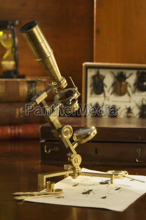 jones style naturalist microscope circa 1795