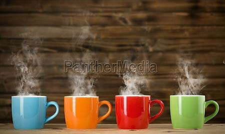 tassen, mit, dampfenden, getränk - 11702075