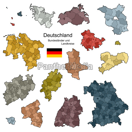 bundeslaender und landkreise von deutschland
