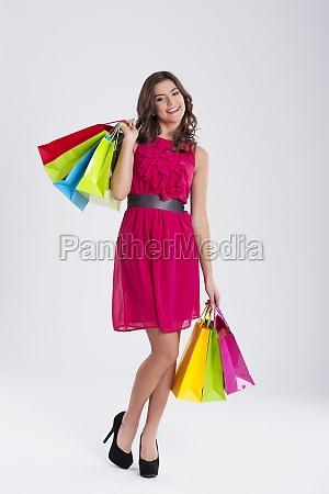smiling woman shopping