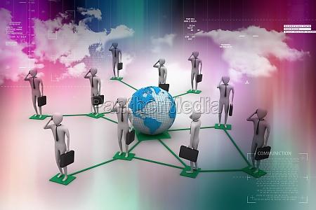 3d image of virtual men on