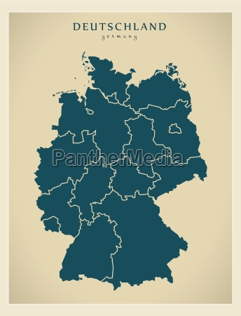 moderne landkarte deutschland