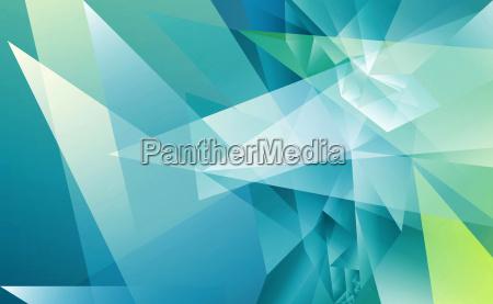 polygonal abstrakt blau