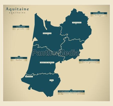 moderne landkarte aquitaine fr