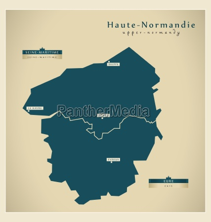 moderne landkarte haute normandie fr