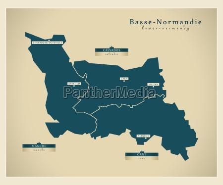 moderne landkarte basse normandie fr