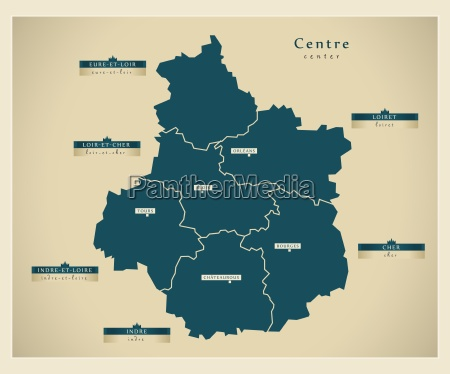 moderne landkarte centre fr
