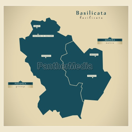 moderne landkarte basilicata it