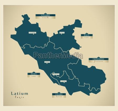 moderne landkarte latium it