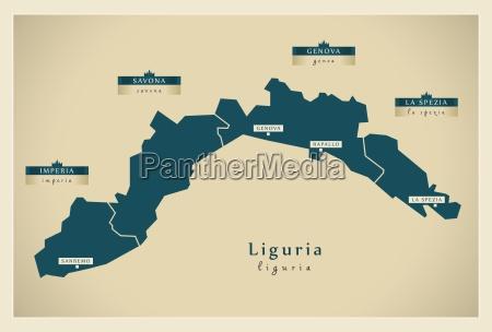 moderne landkarte liguria it