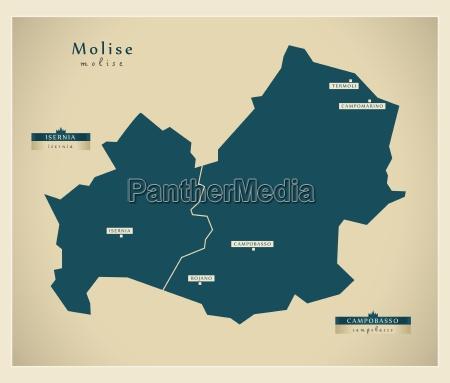 moderne landkarte molise it