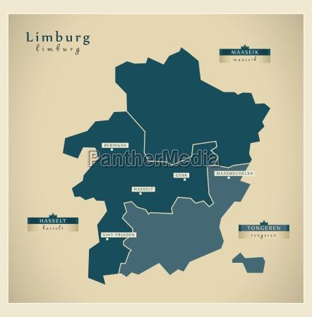 moderne landkarte limburg be