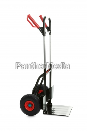empty hand truck over white background