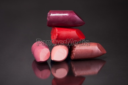 stacks of lipsticks