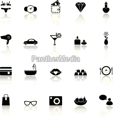 lady related item icons with reflect