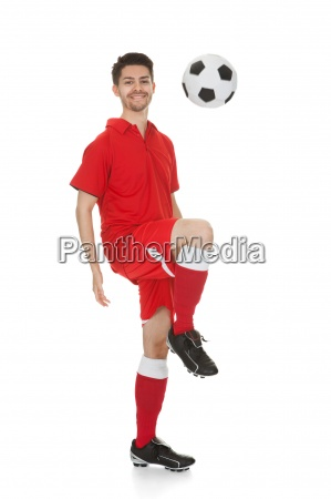portrait of young soccer player with