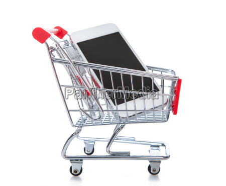 wire mesh shopping trolley or cart