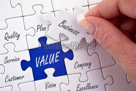 value business concept