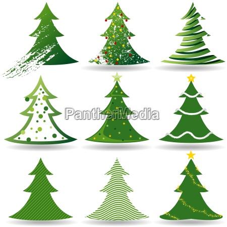 weihnachtsbaum set