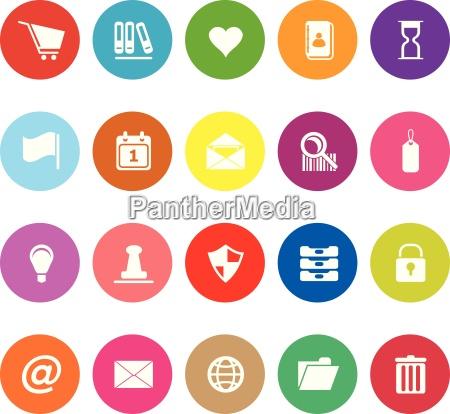 general folder flat icons on white