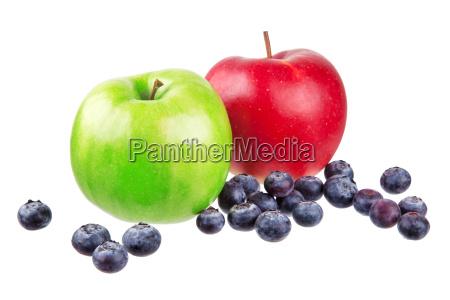 aepfel mit blaubeeren