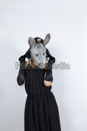 donkey in evening dress