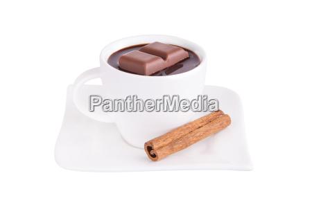 heiße, schokolade, mit, zimt - 12872216