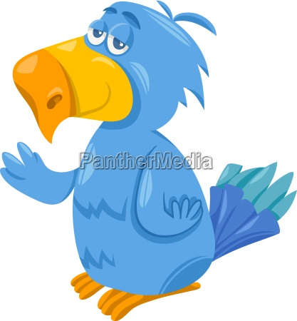 funny parrot cartoon illustration