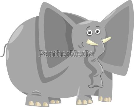 funny elephants cartoon illustration