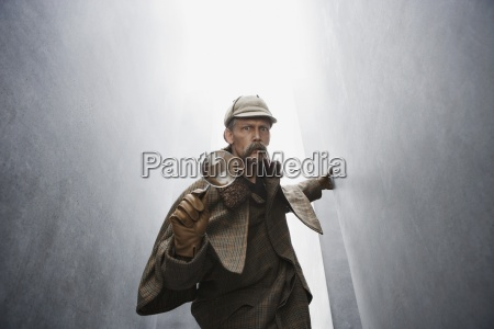 colour male masculine portrait glove horizontal