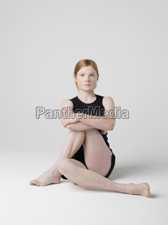 woman colour relaxation wellbeing barefoot pose