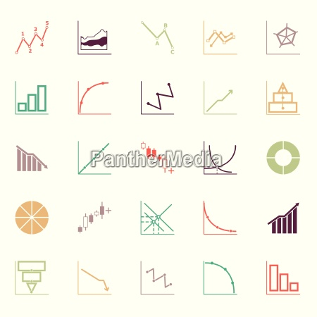 economic and investment diagram line icon